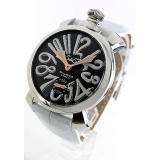 ガガミラノ 腕時計コピーマニュアーレ48mm 手巻き スモールセコンド レザー ホワイト メンズ 5010.06S