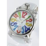 ガガミラノ 腕時計コピーマニュアーレ48mm 手巻き スモールセコンド レザー ホワイト メンズ 5010.1