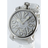 ガガミラノ腕時計コピー マニュアーレ48mm 手巻き スモールセコンド レザー ホワイト メンズ 5010.10