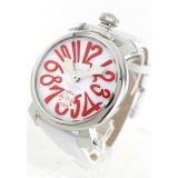 ガガミラノ腕時計コピー マニュアーレ48mm 手巻き スモールセコンド レザー ホワイト メンズ 5010.14S
