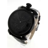 ガガミラノ 腕時計コピーマニュアーレ48mm 手巻き スモールセコンド レザー ブラック メンズ 5012.02S