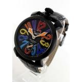 ガガミラノ 腕時計コピーマニュアーレ48mm 手巻き スモールセコンド レザー ブラック メンズ 5012.03S