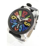 ガガミラノ腕時計コピー マニュアーレ48mm 手巻き スモールセコンド レザー ブラック メンズ 5015S