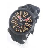 ガガミラノ腕時計コピー マニュアーレ48mm 手巻き スモールセコンド ラバー ブラック メンズ 5016.9