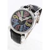 ガガミラノ コピー腕時計マニュアーレ40mm レザー ブラック ボーイズ 5020.2