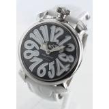ガガミラノ コピー腕時計マニュアーレ40mm レザー ホワイト/ブラックシェル ボーイズ 5020.4