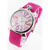 ガガミラノ コピー腕時計マニュアーレ40mm ラバー ローズピンク/ホワイトシェル ボーイズ 5020.6