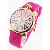 ガガミラノ 腕時計コピーマニュアーレ40mm ラバー ローズピンク/PGPホワイトシェル ボーイズ 5021.1