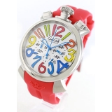 ガガミラノ 時計コピーマニュアーレ クロノ48mm ラバー レッド/ホワイト メンズ 5050.1