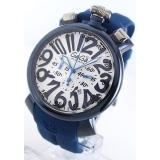 ガガミラノ時計コピー クロノ48mm ラバー ブルー/ホワイト メンズ 5050.8
