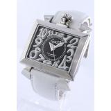 ガガミラノコピー腕時計 ナポレオーネ48mm オートマチック レザー ホワイト/ブラック メンズ 6000.2