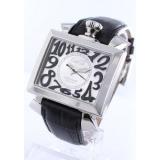 ガガミラノ ナポレオーネ48mmコピー腕時計 オートマチック レザー ブラック/シルバー メンズ 6000.5