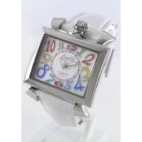 人気腕時計ガガミラノ ナポレオーネ40mm レザー ピンク/ホワイトシェル ボーイズ 6030.6
