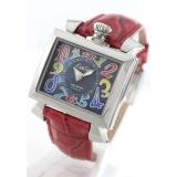 ガガミラノコピー腕時計 ナポレオーネ40mm レザー レッド/ブラックシェル ボーイズ 6030.2
