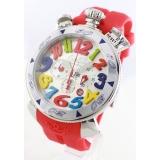 ガガミラノ コピー腕時計クロノ48mm ラバー レッド/シルバー メンズ 6050.1