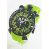 ガガミラノコピー腕時計 クロノ48mm ラバー ライトグリーン/ブラック メンズ 6054.2