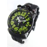 ガガミラノコピー腕時計 クロノ48mm ラバー ブラック メンズ 6054.2