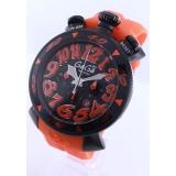 ガガミラノ時計コピー クロノ48mm ラバー ライトオレンジ/ブラック メンズ 6054.3
