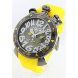 ガガミラノコピー腕時計 クロノ48mm ラバー イエロー/グレー メンズ 6054.6