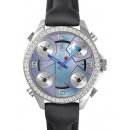 ジェイコブ時計コピー 5タイムゾーン ステンレス ダイヤモンド ブラック タイプ 新品レディース