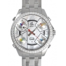 ジェイコブク時計コピーォーツステンレス ダイヤモンド ホワイト シェル タイプ 新品メンズ