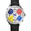 ジェイコブ 腕時計コピー クォーツステンレス ダイヤモンド シルバー アラビア タイプ 新品メンズ