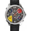 ジェイコブ 時計コピークォーツダイヤモンド グレー アラビア タイプ 新品メンズ