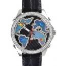 ジェイコブ 時計コピー クォーツタイムゾーン ステンレス ブラック タイプ 新品メンズ