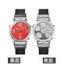 ジェイコブ 時計コピー JACOB&CO クォーツダイヤモンド ブラック/レッド