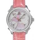 ジェイコブ JACOB&CO腕時計コピークォーツステンレス ダイヤモンド ピンク タイプ 新品メンズ