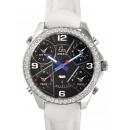 ジェイコブ時計コピー JACOB&CO タイムゾーン ステンレス ブラック ダイヤモンド