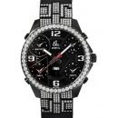 ジェイコブ時計コピー JACOB&CO 5タイムゾーン ステンレスPVD加工 ブラック