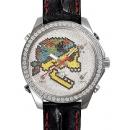 ジェイコブ腕時計コピー JACOB&CO クォーツ スカル ダイヤモンド デイト