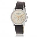 MONTBLANC モンブラン 腕時計コピー タイムウォーカー 101549 オートクロノ シルバー ブラック レザー