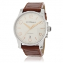 MONTBLANC モンブラン腕時計コピー タイムウォーカー 101550 オート シルバー ブラウン レザー