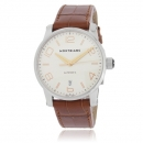 MONTBLANC モンブラン時計コピー タイムウォーカー 105813 AUTO オート シルバー ブラウン レザー