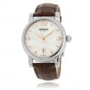 MONTBLANC モンブラン時計コピー スター デイト 105896 シルバー ブラウン レザー
