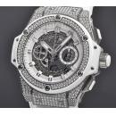 ウブロ 腕時計コピー キングパワー ウニコ チタニウム ホワイト パヴェ701.NE.0127.GR.1704