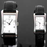 バーバリー BU3002/BU3003 カップル用時計 コピー 黒レザー