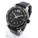 ロンジン時計コピー アドミラル オートマチック GMT アリゲーターレザー ブラック メンズ L3.668.4.56.2