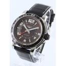 ロンジン時計コピー アドミラル オートマチック GMT アリゲーターレザー ブラック/ブラウン メンズ L3.668.4.66.0