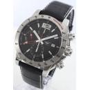 ロンジン時計コピー アドミラル オートマチック GMT クロノグラフ アリゲーターレザー ブラック メンズ L3.670.4.56.2