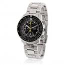 セイコー QUTARZ 腕時計コピー クオーツ クロノグラフ SNA413P1 逆輸入 パイロット ホワイト/ブルー