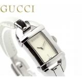グッチ 時計 偽物 レディース 6800 ホワイト レザーベルト GUCCI YA068523