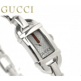 グッチ 時計 レディース バンブー 6800 アナログ シルバー GUCCI YA068555