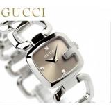 グッチ 時計 コピーレディース Gグッチ ダイヤ ブラウン GUCCI YA125503 新品