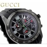 グッチ 時計コピー メンズ Gタイムレス クロノグラフ オールブラック ラバーベルト GUCCI YA126206