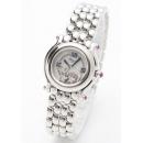 ショパール 腕時計コピー ピンクサファイア ホワイトシェル レディース 27/8250-42