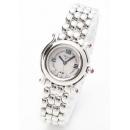 ショパール腕時計コピーピンクサファイア ホワイトシェル レディース 27/8250-42