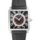 フランクミュラー腕時計コピー マスタースクエア コピーカジノ クロコレザー ブラック 6050KCSN